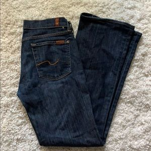 like new 7 for All Mankind bootcut dark wash 28